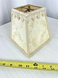 50#x27;s Vintage Small 6quot; Trapezoid Clip On Lamp Shade $19.95