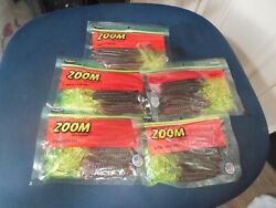 ZOOM PLASTIC FISHING WORMS 5 PACKAGES $7.99
