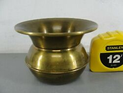 SOLID BRASS VINTAGE COLLECTIBLE WESTERN COWBOY MANCAVE SALOON MINI SPITTOON 3quot; $39.90