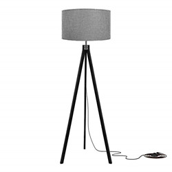 LEPOWER Wood Tripod Floor Lamp Flaxen Lamp Shade with E26 Lamp Base Mid Lamp $87.02