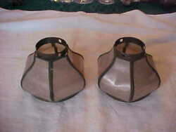 Pair of Arts amp; Crafts MICA EISENGLASS Electric Lamp Shades 2 1 4quot; Fitter $49.99