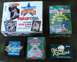 Five 5 Baseball boxed sets Pop Up. Highlights Rookies High##x27;s Updates $35.00