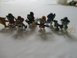 Five Vintage Historical Smurfs Figure Set 1984 Peyo Schleich $169.80