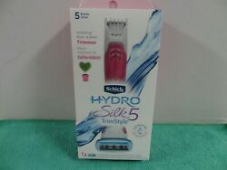 NEW Schick Hydro Silk TrimStyle 5 Blades with Bikini Trimmer Pink $14.99