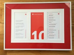 Herman Miller Design Tenets matted and framed for hanging display $100.00