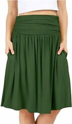 Grey Skirts for Women Reg and Plus Size Skirts a Line Olive Green Size Small y $9.99