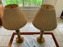 Stiffel Solid brass table lamps $95.00