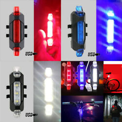 4X LED Bicycle Tail Lights Bulbs Bike Rechargeable USB Safety Warning Rear Lamp $5.27