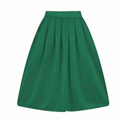 Taydey A Line Pleated Vintage Skirts for Women Z green Size Small VxTH $9.99