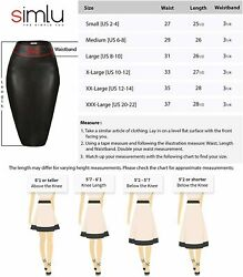 Simlu Black Leather Pencil Skirt for Women Black Black Leather Size X Large G $9.99