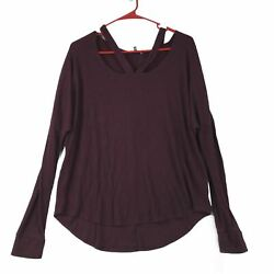 Express Womens Maroon Long Sleeve Top Large $9.74