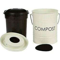 The Relaxed Gardener Kitchen Compost Bin 0.8 Gallon Rust Proof and Leak P... $31.90