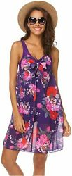 Hotouch Swimwear Women#x27;s Tankini Swimsuits Bikinis for Violet Size X Large dec $13.99