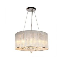 DINGGU Contemporary Pendant Chandelier Lighting with Cylinder Lamp Shade Mode... $146.86