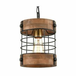 EUL Rustic Kitchen Pendant Hanging Light Wood amp; Metal Wire Cage Ceiling Lamp ... $94.43