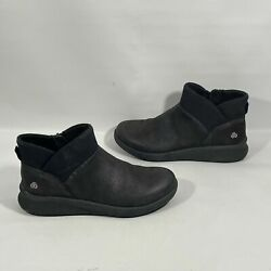 Clarks Cloudsteppers Womens Boots 7 Black Ankle $22.95