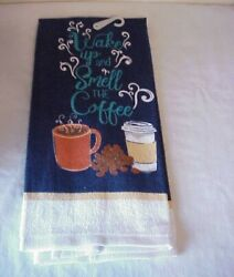 Lot of 4 Wake up and smell the coffee Kitchen Dish Towels 15quot; x 25quot; New $12.99