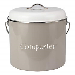HeAndy Compost Bucket for Kitchen Food Scraps Cream Countertop Compost Bin Lid $39.45