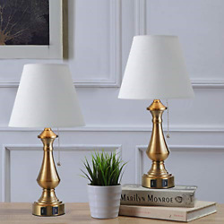 Capslpad USB Table Lamps18quot; Bedside Table Lamp with Dual USB Ports Lamps Metal $32.80