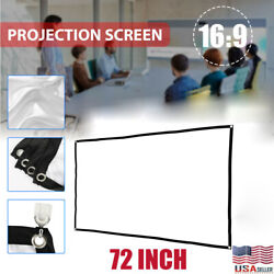 72quot; Portable Foldable Projector Screen 16:9 HD Outdoor Home Cinema Theater Movie $3.99