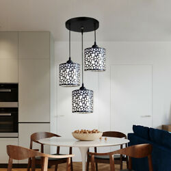 3 Heads LED Ceiling Light Modern Hanging Chandelier E27 Black Pendent Lamp NEW $32.00