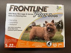 Frontline Plus for Dogs 5 22lbs 3 pack EPA approved Free Shipping $23.99