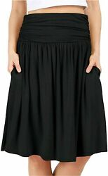 Grey Skirts for Women Reg and Plus Size Skirts a Line Knee Black Size 1.0 DqUN $9.99