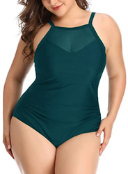 One Piece Bathing Suits Ruched Tummy Control Swimsuit XXL $29.00