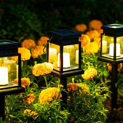 Solar Power LED Hanging Lantern Light Table Lamp Garden Yard Decor Stake Lamps $20.89