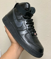 Nike Air Force One Mens High Top Iridescent Black Shoes Size 12 806403 002 $89.99