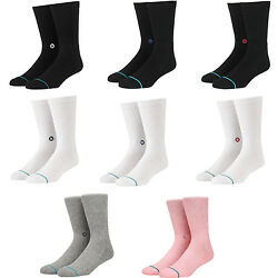 STANCE MEN#x27;S quot;ICONquot; CLASSIC RIBBED CREW SOCKS $13.99