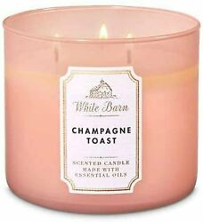 Champagne Toast 3 Wick Candle White Barn Bath and Body Works $26.14