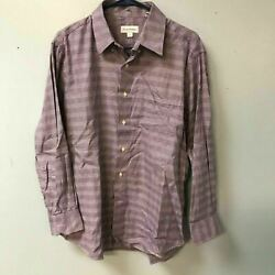 Tommy Bahama Mens 16 1 2 32 33 Purple Button Up Shirt $12.74