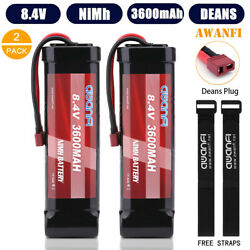2x 8.4V 3600mAh NIMH RC Battery Flat Pack 7 Cell Deans For Traxxas RC Car Truck $29.99