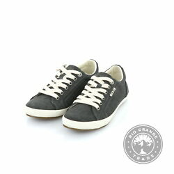 NEW Taos Star Women#x27;s Canvas Fashion Lace Up Sneakers in Charcoal Wash 6 $41.99