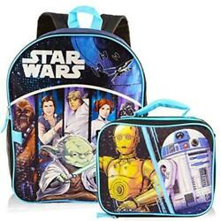 Star Wars Backpack with Lunchbox Set for Boys Kids Star Wars Backpack Size $9.99