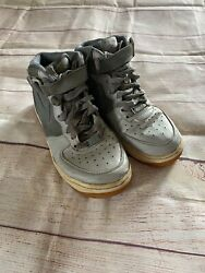 Nike Grey Air Force 1 Grey High Top Sneakers 5.5Y