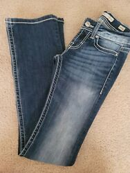 """BKE """"Stella"""" Bootcut Womens Low Rise Denim Jeans 24 x 35 1 2 Great Condition $48.00"""