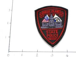 RHODE ISLAND STATE POLICE STATE POLICE EMBROIDERED PATCH IRON ON NEW 3quot; $4.99