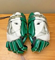 Warrior RPM Pro Star 13quot; Lacrosse Gloves Forest Green White Silver $24.99