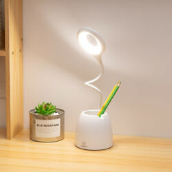 Dimmable LED Desk Lamp Table Beside Reading Light Touch Sensor USB Rechargeable $12.17