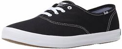 Keds Womens Champion Low Top Lace Up Fashion Sneakers Black Canvas Size 9.0 Q1 $26.97
