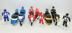 Mighty Morphin Battle Bike Power Rangers 1993 with Bikes and Weapons Set of 3 $35.75