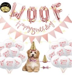 Dog Birthday Party Supplies WOOF Letter Balloons with LED LightPaw Print $10.30