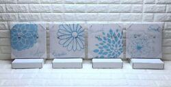 4 pcs Canvas Wall Art for Bedroom Floral Paintings Flower Pictures $22.00
