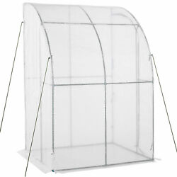 Outdoor Small Greenhouse Lean to Shed Backyard Roll up Door amp; PE Plastic Cover $79.87