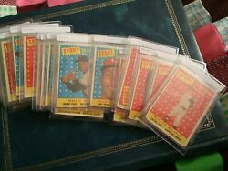 1958 topps all star set 21 cards: Mantle Mays; AARON Williams; FREE SHIPPING $510.00