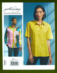 Men#x27;s Designer Shirts Sewing Pattern Long or Short Sleeves 34 40 Vogue 1622