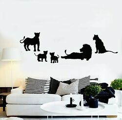 Vinyl Wall Decal Lion Family Pride Kids Decor African Animals Stickers g5438 $20.99