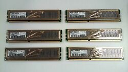 LOT of 6 OCZ Gold Series 2GB 1600 MHz DDR3 240 Pin RAM OCZ3G1600LV6GK $29.99
